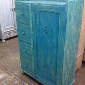 commode blauw