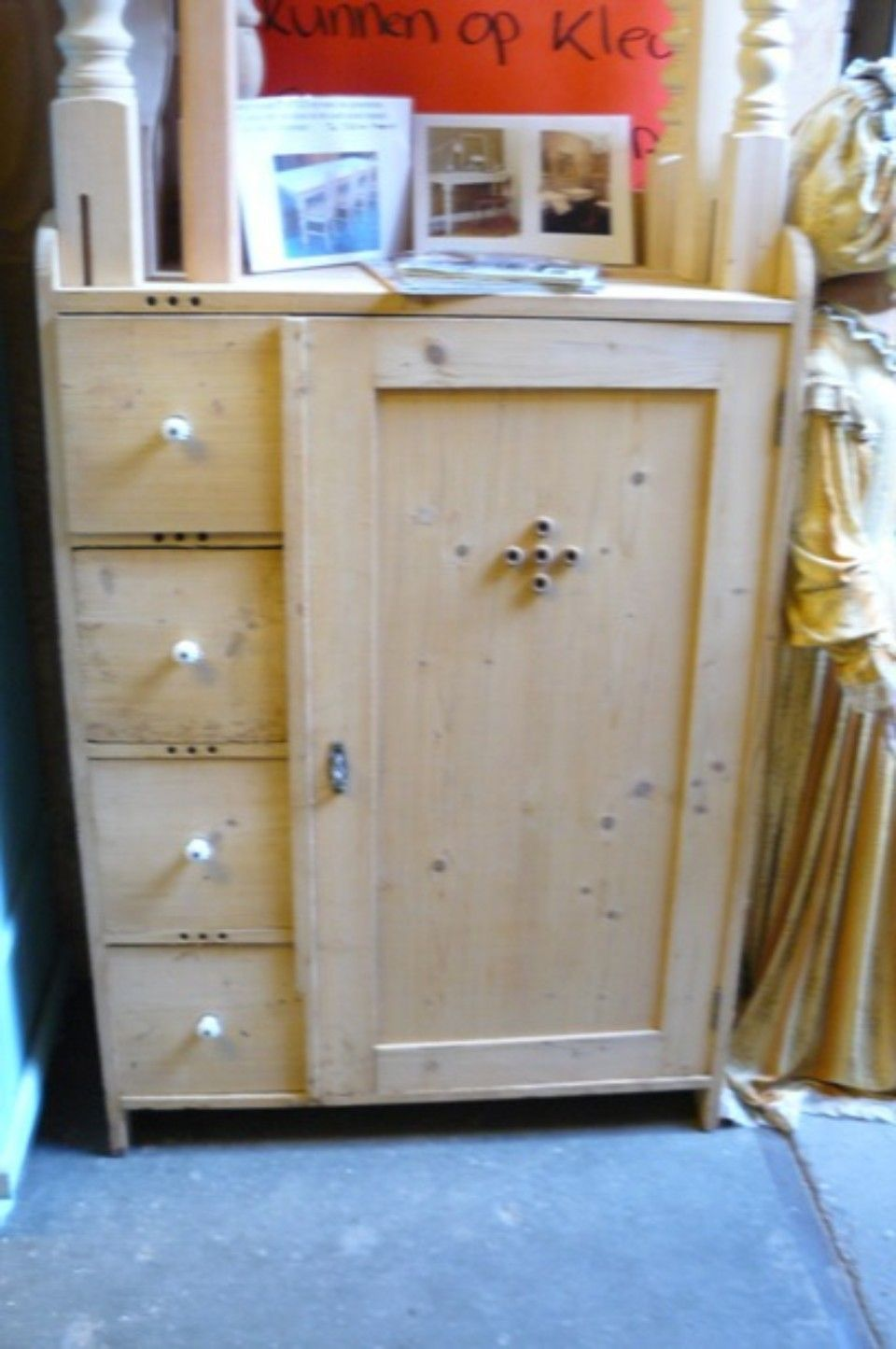 commode met lades hout